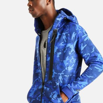 Nike Tech Camo Hoodie Blue From Superbalist Outer Wear