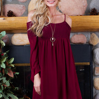 Gone Girl Lace Dress - Burgundy