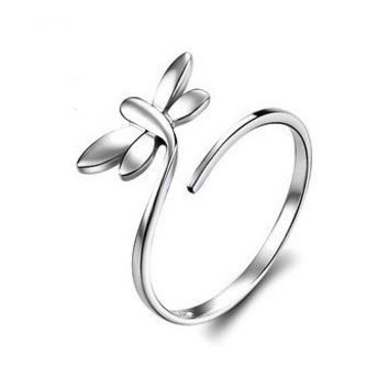 Dragonfly 925 Sterling Silver Ring -  One Size