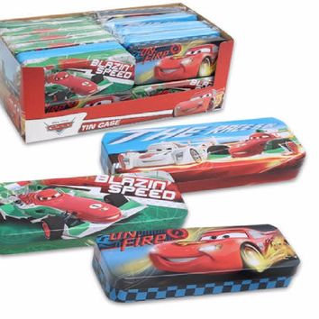 Disney Pixar Cars 3 Metal Pencil Tin Case Holder For Fans- Assorted- 1 Pc