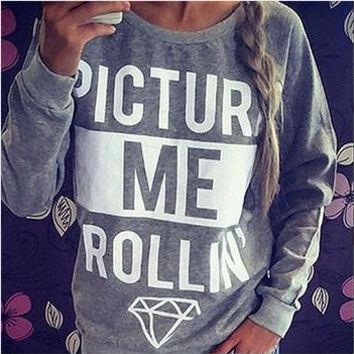 2014 Women Hoody Spring Autumn Long Sleeve Letter Print Sweatshirt Women Casual Hoodies plus size womenLJ155QAF = 1920144644