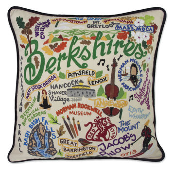 Berkshires Hand Embroidered Pillow