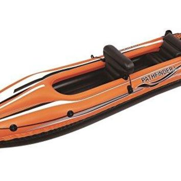 By PoolCentral 138 inch  Orange and Black  inch Pathfinder I inch  Inflatable Two Person Kayak
