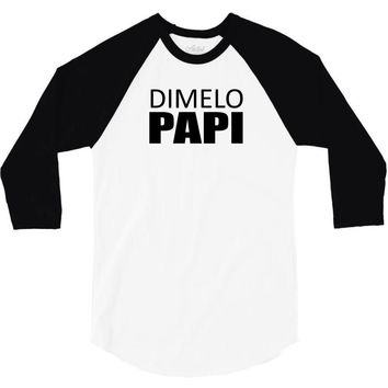 dimelo papi nicky jam reggaeton regueton  black 3/4 Sleeve Shirt