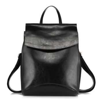 Realer Leather Convertible Purse Backpack