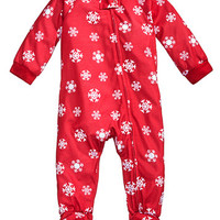 Family Pajamas 1-Pc Snowflake Meltdown Footed Pajamas, Baby Boys' or Baby Girls' (12-24 months) & Toddler Boys' or Toddler Girls' (2T-3T) Created for Macy's   macys.com