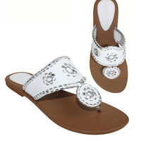 Jack Rogers Inspired Sandals - White