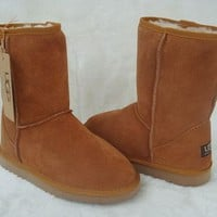 5825 style winter snow boots - Chestnut