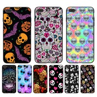 Alien tye dye skull flower Newest Fashion Luxury phone case for Apple iPhone 8 7 6 6S Plus X 5 5S SE 5C case