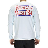 The Election Year Reagan Bush 84 Long Sleeve Pocket Tee in Chambray by Full Time American