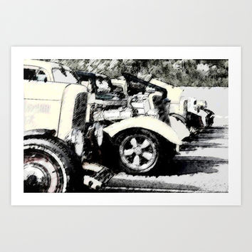 Hot Rods Art Print by Ace of Spades