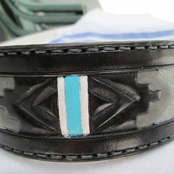 Custom tribal collar, black and grey collar, handmade dog collars, leather dog collar, pet collars, unique collars, Boxer, Pitbull collar