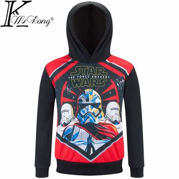 Brand New 2017 Boy outerwear Hoodies Star Wars jacket Children Sweatshirts For Boy t shirt hooded Coat Tops Kids Clothing 3-10 y