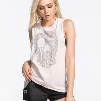 Fox Headshell Womens Muscle Tank Light Pink  In Sizes