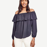 Cold Shoulder Ruffle Top | Ann Taylor