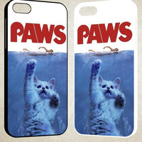 PAWS OVIE PARODY FUNNY CAT ATTACK F0586 iPhone 4S 5S 5C 6 6Plus, iPod 4 5, LG G2 G3, Sony Z2 Case