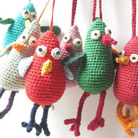 Crochet Bird Pattern Tutorial PDF File by LoopySheep on Etsy