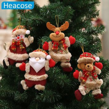 Christmas tree decoration dancing Santa Claus snowman deer Hanging Ornaments toy Christmas decorations for home new year gifts