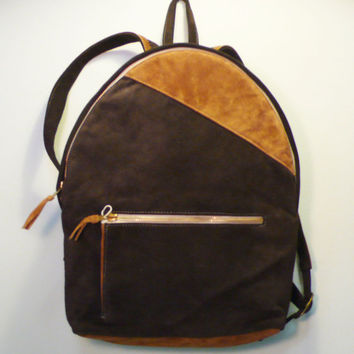 $145.00 Handmade Leather backpack by swisseye on Etsy