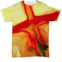 Rose Cross Painting Now Available by Rossouw! Order this Stunning Tee for Yourself or a Family Member. www.Cole-Son.com
