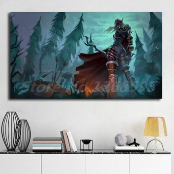 World Of Warcrafts Sylvanas Wallpaper Canvas Posters Prints Wall Art Painting Decorative Picture Artwork Modern Home Decoration