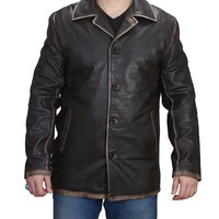 Supernatural Distressed Real Leather Dean Winchester Jacket Cyber Monday Deals