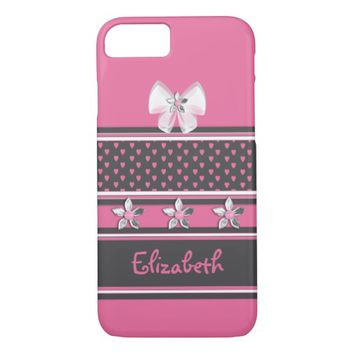 Pink floral Barely There iPhone 7 Case