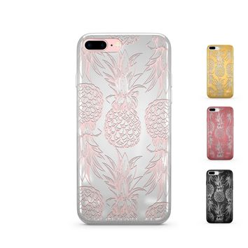 Chrome Shiny Hawaiian Pineapple iPhone Case