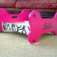 Custom Made Wooden Dog Bed Personalized