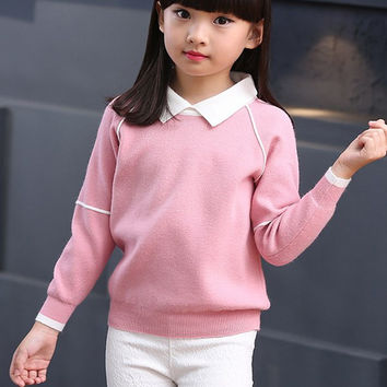 Candy Color Pullover Sweater