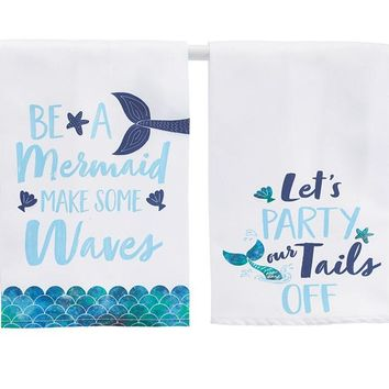 MAKIN' WAVES MERMAID TEA TOWEL SET