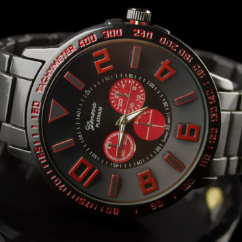 "Mens Luxury Metal Band Sport Watch ""M5"""