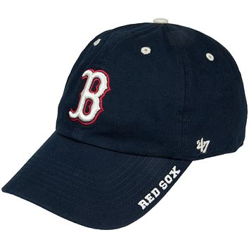 Boston Red Sox - B Logo Clean Up Adjustable Navy Baseball Cap