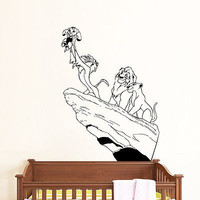 Wall Decals King Lion Animal African Vinyl Decal Nursery Room Kids Decor O18