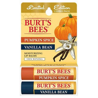 Burts Bees Limited Edition Combo Pack Pumpking Spice & Vanilla Bean Lip Balm