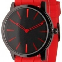 Geneva Red w/ Black Silicone Jelly Watch
