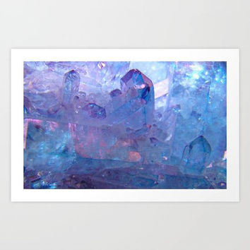 Purple Quartz Healing Crystal Art Print, Purple Glitter Wall Art, Crystal Art Print, Spiritual Zen Art Print, Magic Wall Art, Purple Decor