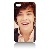 Harry Styles One Direction Hard Case Cover Skin for Iphone 4 4s Iphone4 At&t Sprint Verizon Retail Packing