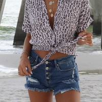 Sonoma High Waisted Distressed Denim Shorts