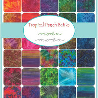 Tropical Punch Batiks Jelly Roll by Moda Fabrics