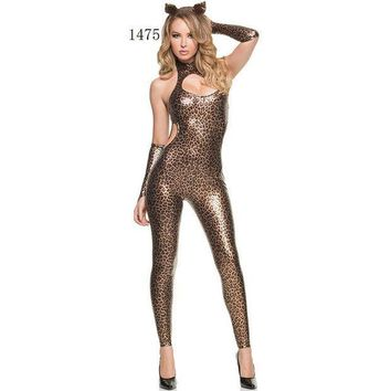ESBON Games Club Sexy Leopard Costume Anime Halloween Uniform [8978894535]