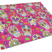 Day of the Dead Pink Glass Cutting Board Large BB5115LCB