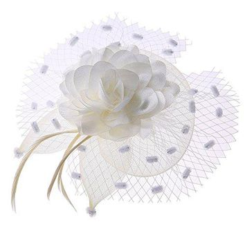 Womens Fascinators Headband Veil Flower Hair Clip Cocktail Tea Party Headwear