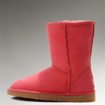 UGG Classic Short Boots 5825 Red Enthusiasm