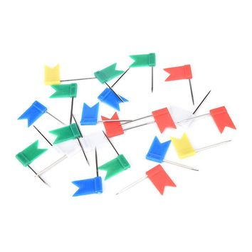 Best Selling High Quality 50PCS Color Flag Push Pins Office Home School Supplies Cork Board Map Drawing New Arrival