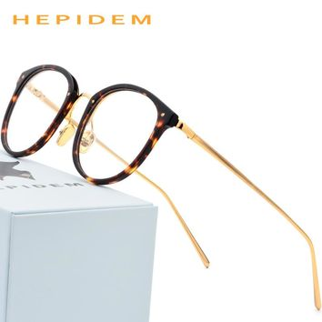 8f4b3bb094 Acetate Glasses Frame Men Vintage Round Oliver Prescription Eyeglasses for  Peoples Women Myopia Optical Frame Spectacles