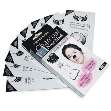 10 Pcs Korean Blackhead Strong Cleaner Moderate Bamboo Charcoal Nose Face Mask Strips Cleansing Pore Peel Off Pack