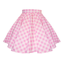 PRE-ORDER - Sweetie Gingham Circle Skirt (PINK)