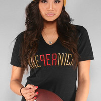 Adapt Advancers — Colin Kaepernick X Adapt :: Kae9ernick (Women's Black V-Neck)