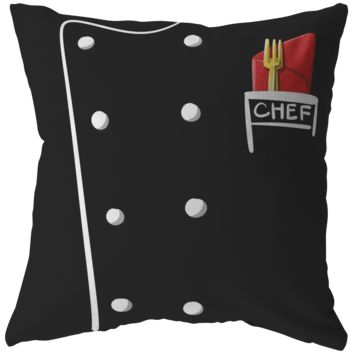 Cute Chef Top Chef Pillow